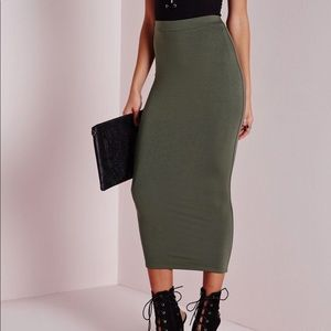 Missguided | Skirt Longline Jersey Bodycon